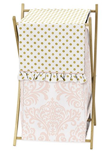 Sweet Jojo Designs 9 Piece Blush Pink White Damask And