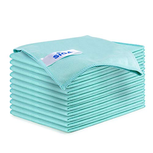 Microfiber Glass Cleaning Cloths 8 Pack Lint Free