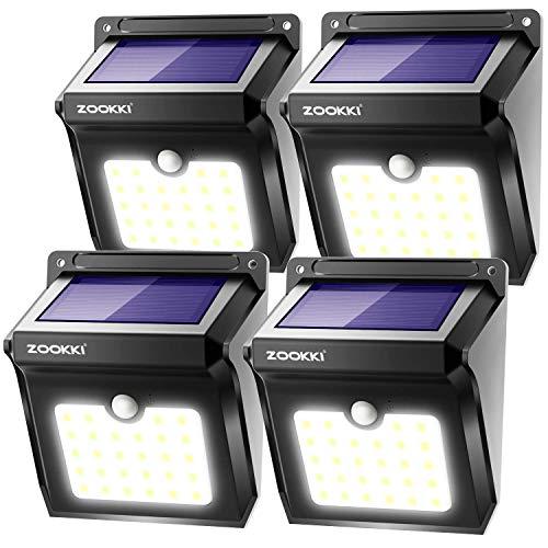 Mulcolor 4 Pack Solar Lights Brightest 30 Led Solar